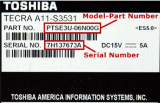 Toshiba Label